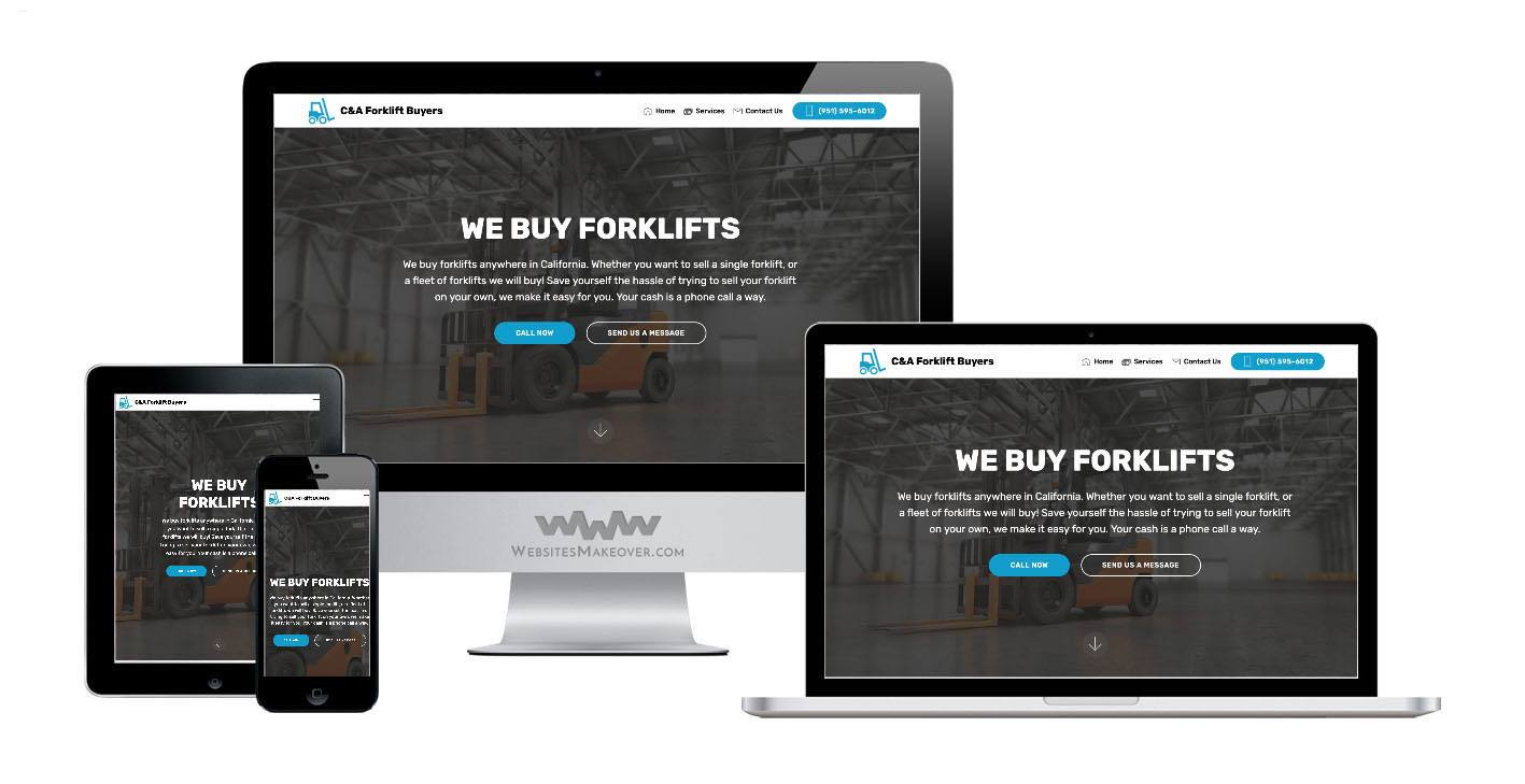 equipment website design