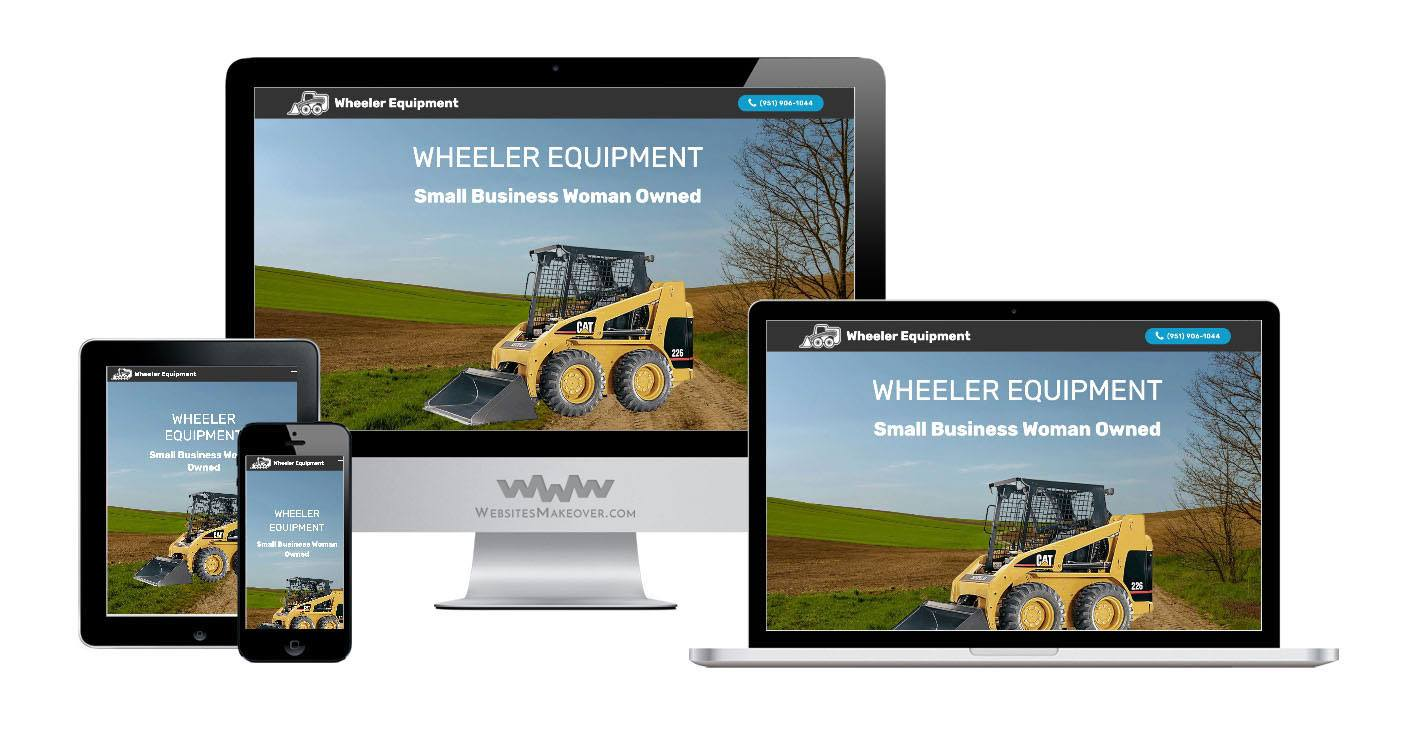 equipment website design