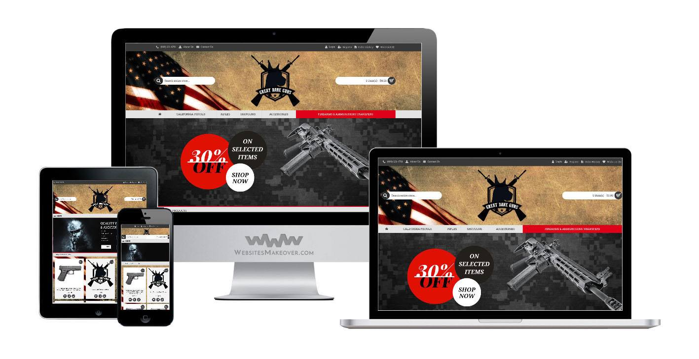 guns website design