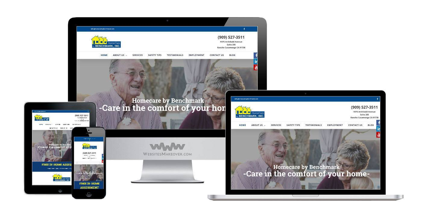 home care website design
