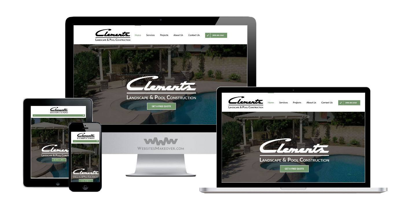 landscape website design