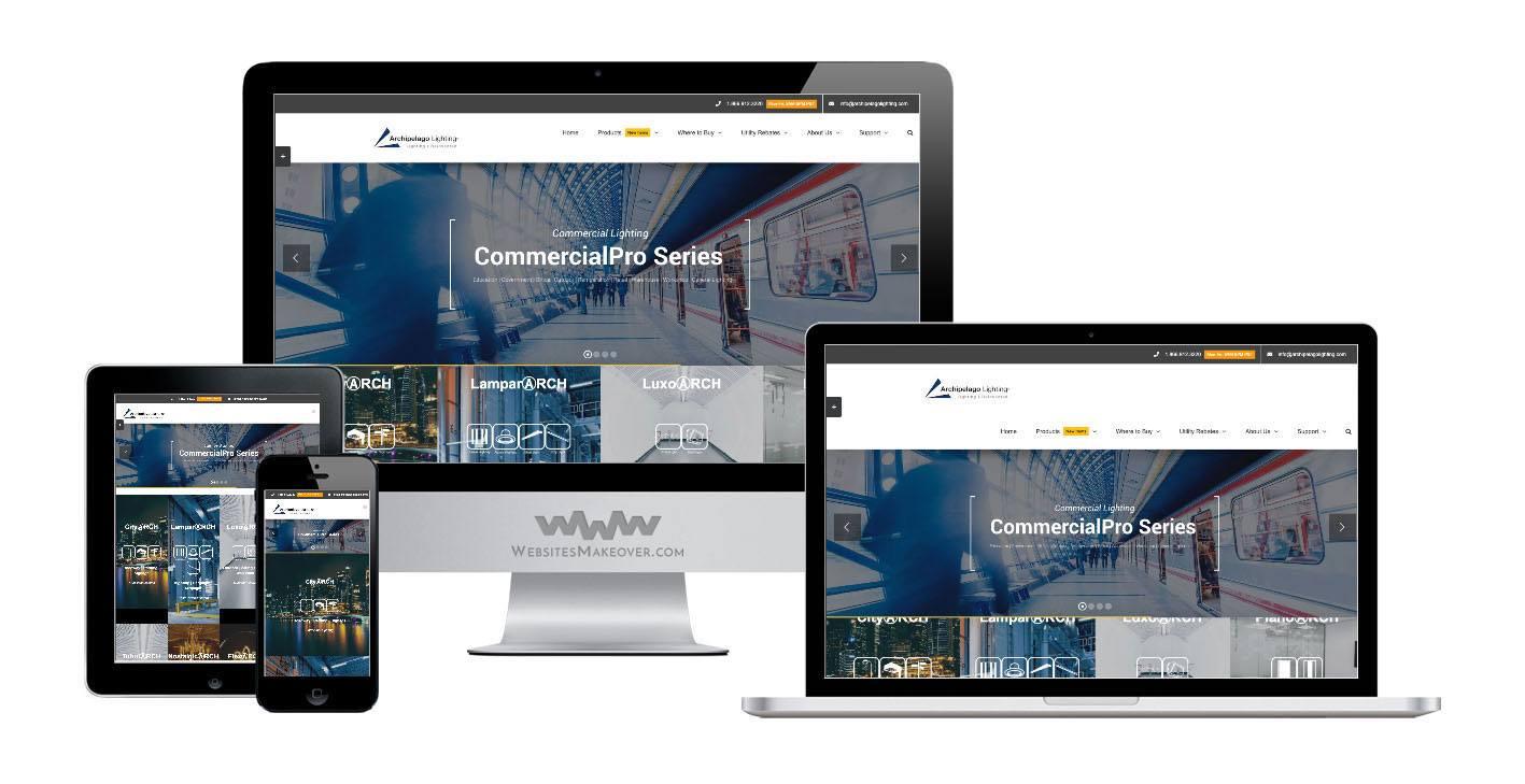 lighting website design