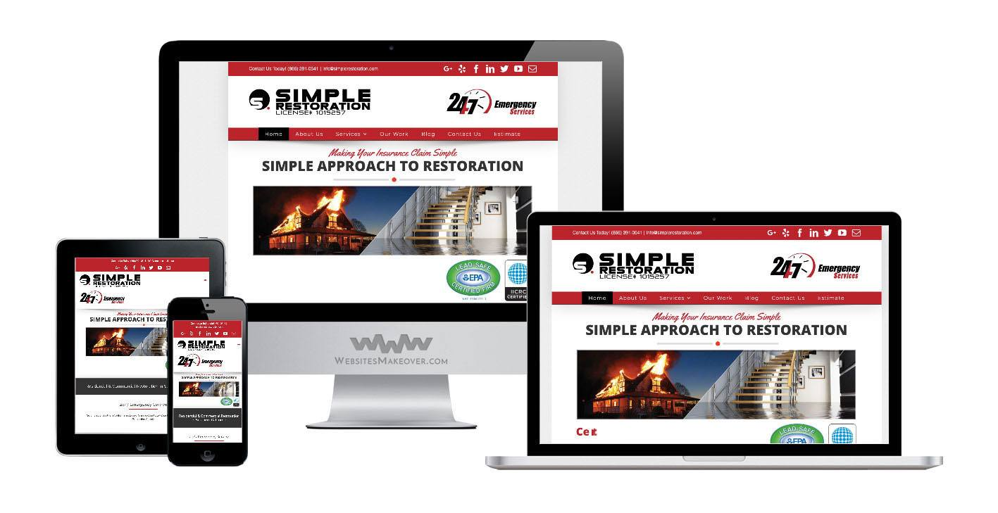 restoration website design