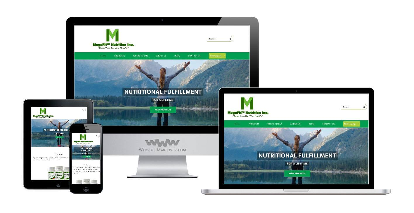 supplement website design