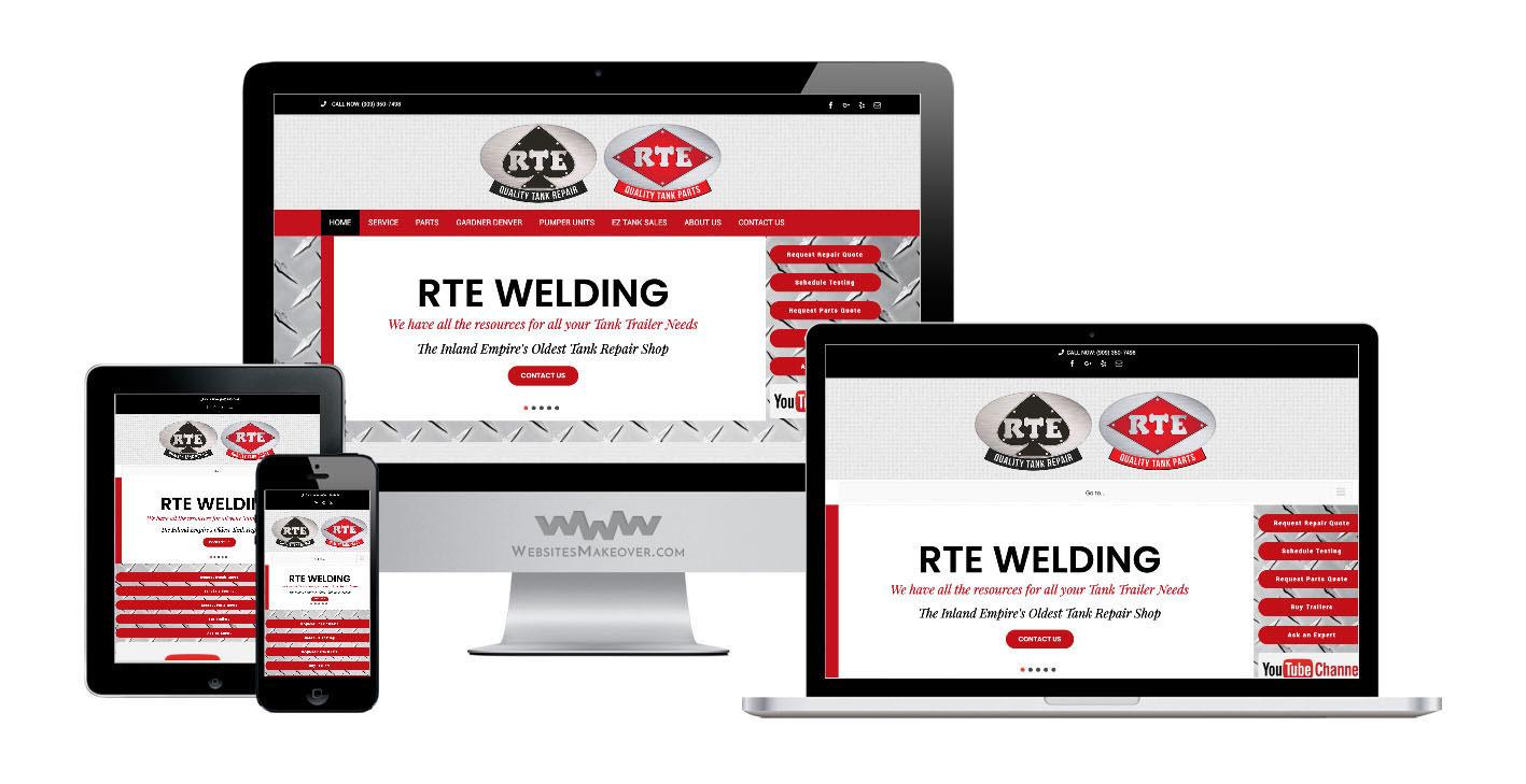 welding website design